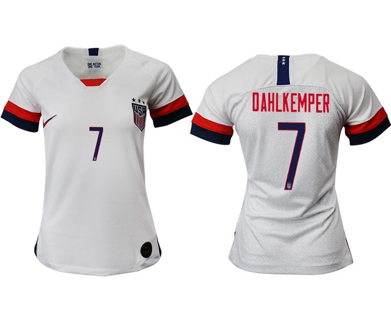 2019-20 USA 7 DAHLKEMPER Home Women Soccer Jersey