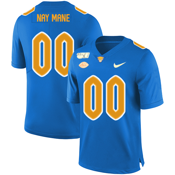 Pittsburgh Panthers Customized Blue 150th Anniversary Patch Nike College Football Jersey
