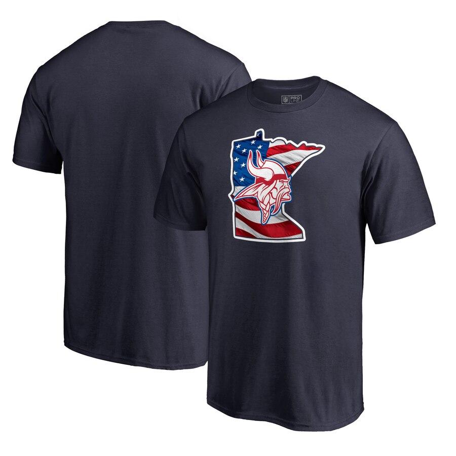 Minnesota Vikings NFL Pro Line by Fanatics Branded Banner State T-Shirt Navy