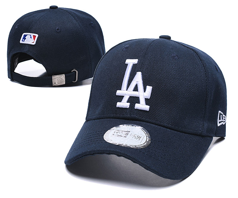 Dodgers Fresh Logo Navy Peaked Adjustable Hat TX.jpeg
