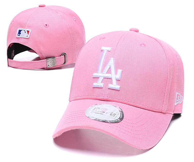 Dodgers Fresh Logo Pink Peaked Adjustable Hat TX