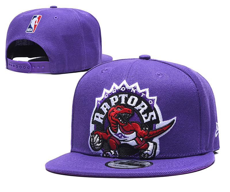 Raptors Team Logo Purple Adjustable Hat TX