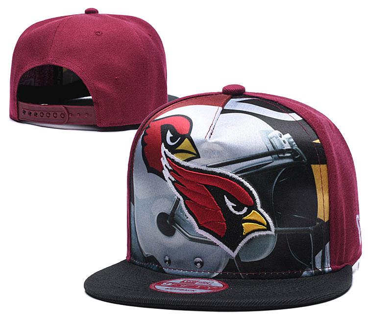 Arizona Cardinals Team Logo Red Black Adjustable Leather Hat TX