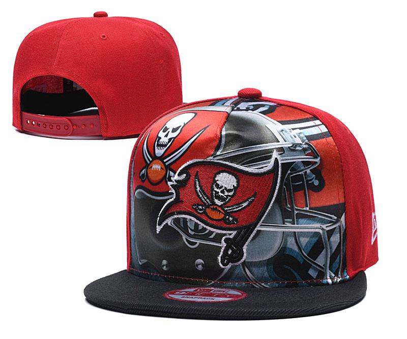 Buccaneers Team Logo Red Black Adjustable Leather Hat TX