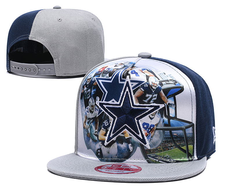 Cowboys Team Logo Gray Adjustable Leather Hat TX