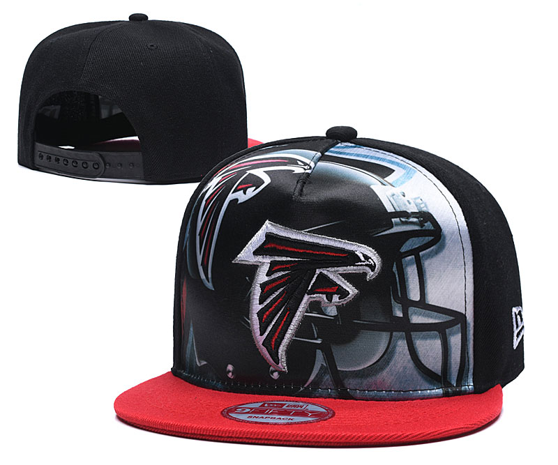 Falcons Team Logo Black Red Adjustable Leather Hat TX