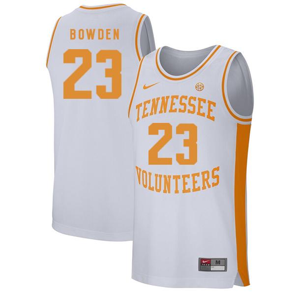 Tennessee Volunteers 23 Jordan Bowden White College Basketball Jersey