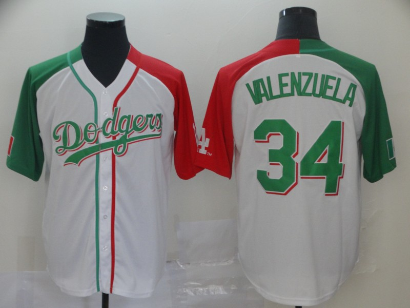 Dodgers 34 Fernando Valenzuela White Mexican Heritage Culture Night Jersey Mexico