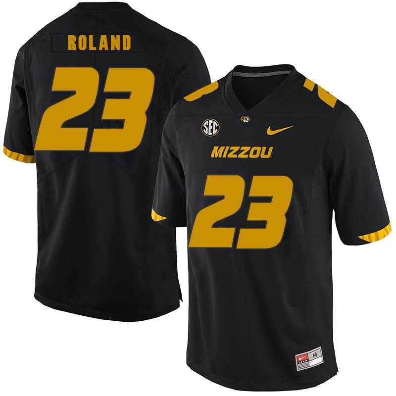 Missouri Tigers 23 Johnny Roland Black Nike College Football Jersey