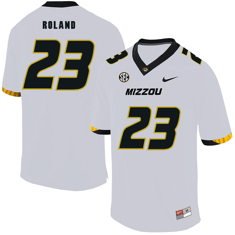Missouri Tigers 23 Johnny Roland White Nike College Football Jersey
