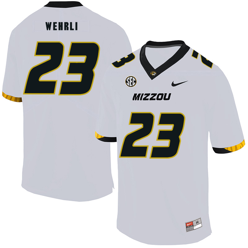Missouri Tigers 23 Roger Wehrli White Nike College Football Jersey