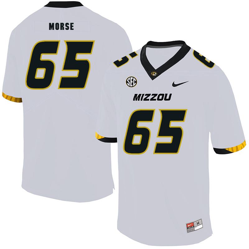 Missouri Tigers 65 Mitch Morse White Nike College Football Jersey