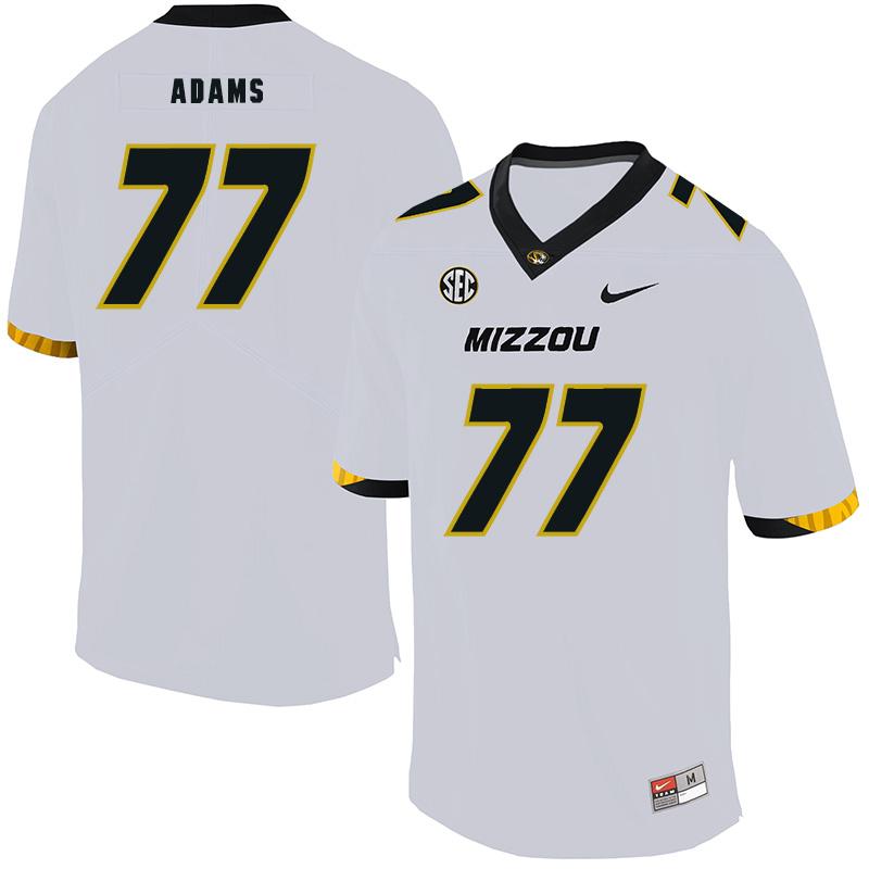 Missouri Tigers 77 Paul Adams White Nike College Football Jersey