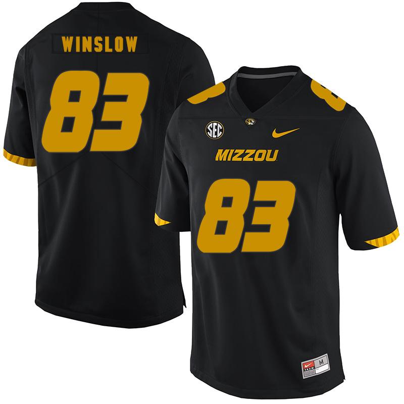 Missouri Tigers 83 Kellen Winslow Black Nike College Football Jersey