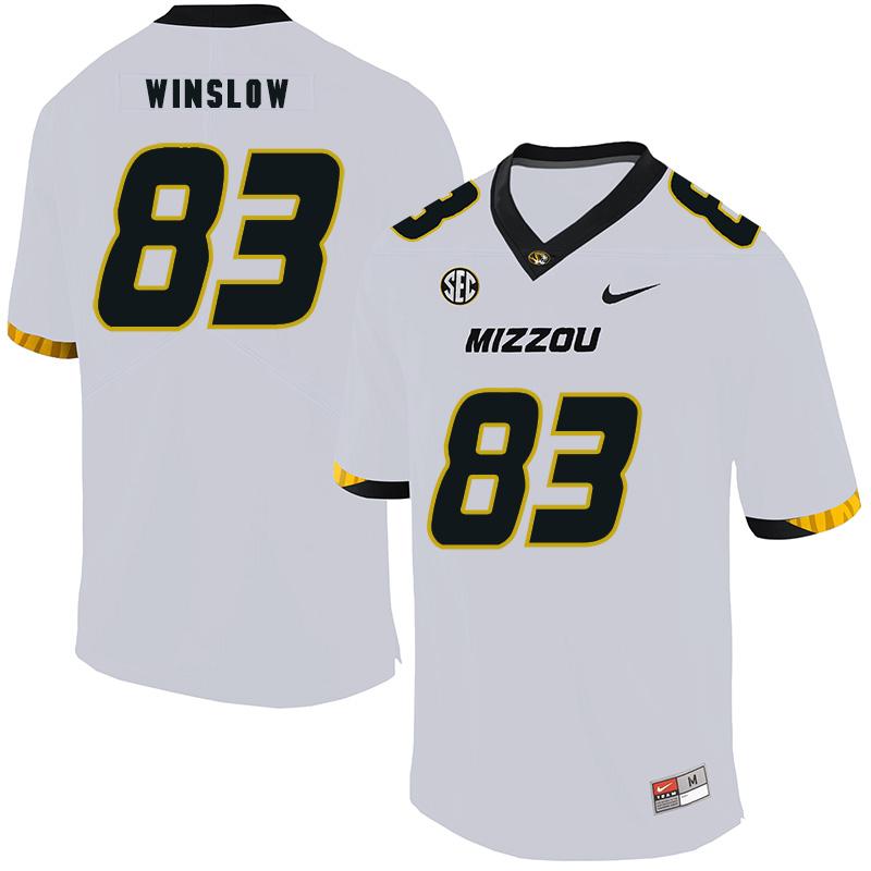Missouri Tigers 83 Kellen Winslow White Nike College Football Jersey