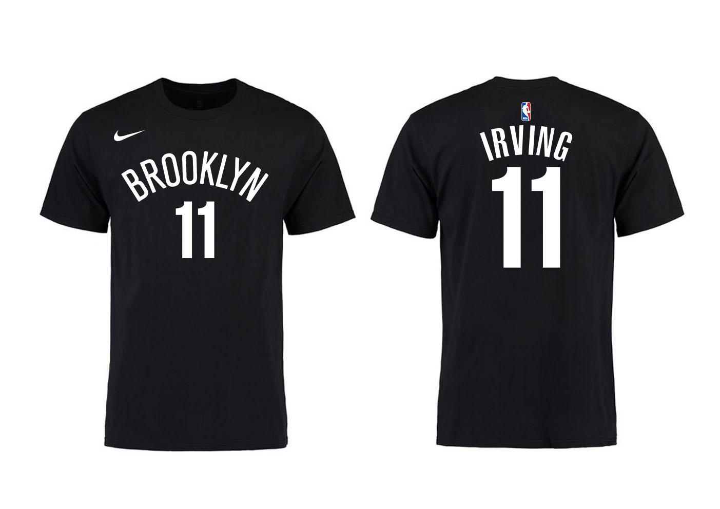 Brooklyn Nets 11 Kyrie Irving Black Nike T-Shirt
