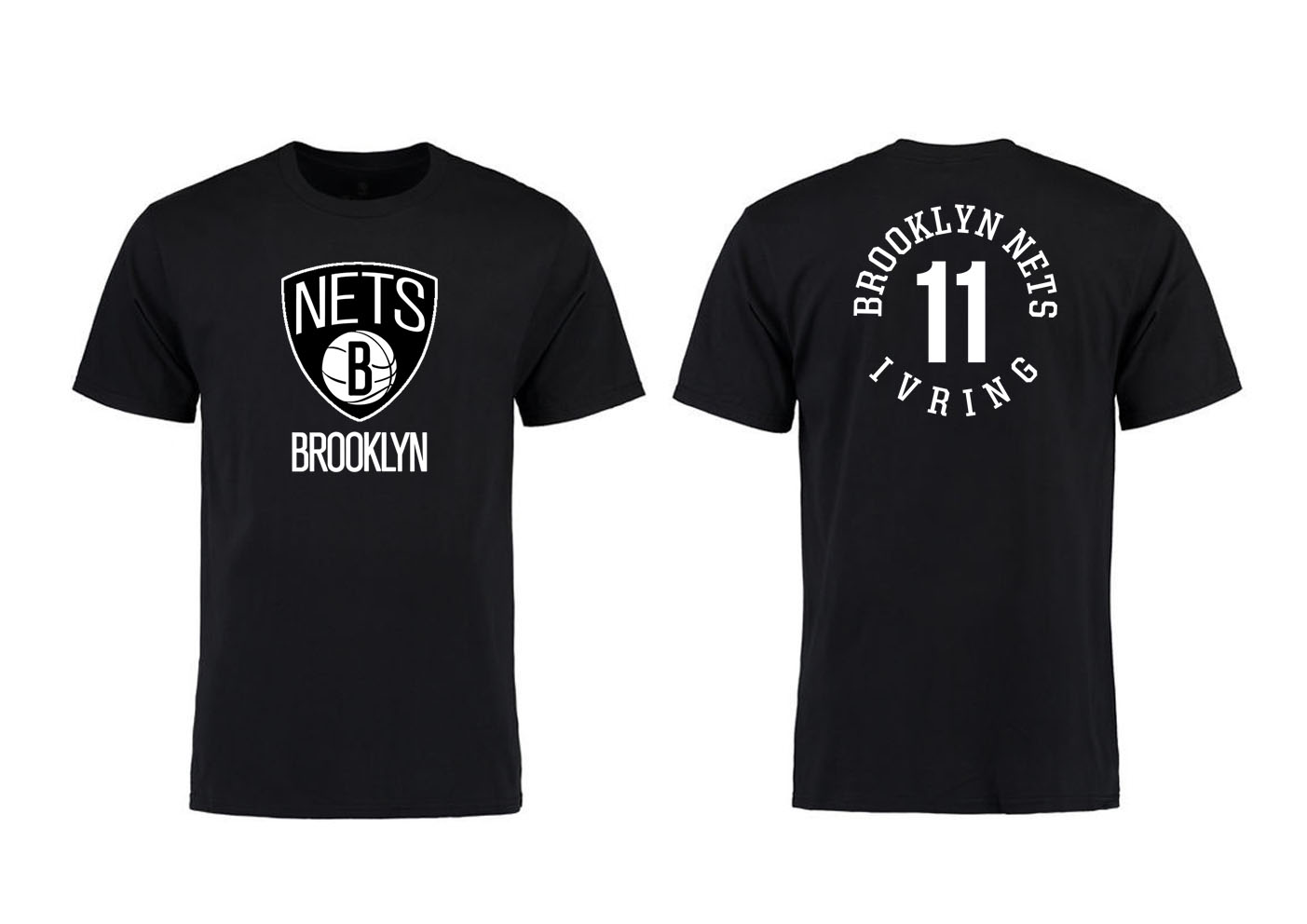 Brooklyn Nets 11 Kyrie Irving Black T-Shirt