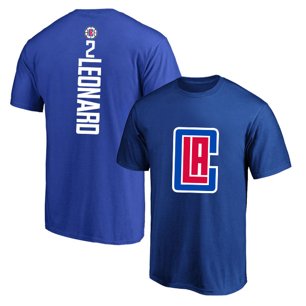 Los Angeles Clippers 2 Kawhi Leonard Blue T-Shirt