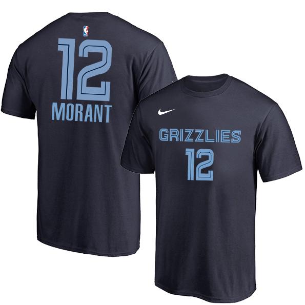Memphis Grizzlies 12 Ja Morant Navy Nike T-Shirt
