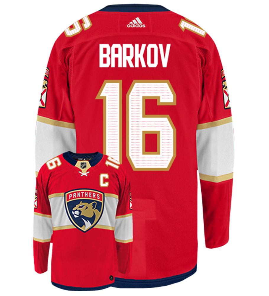 Panthers 16 Aleksander Barkov Red Adidas Jersey