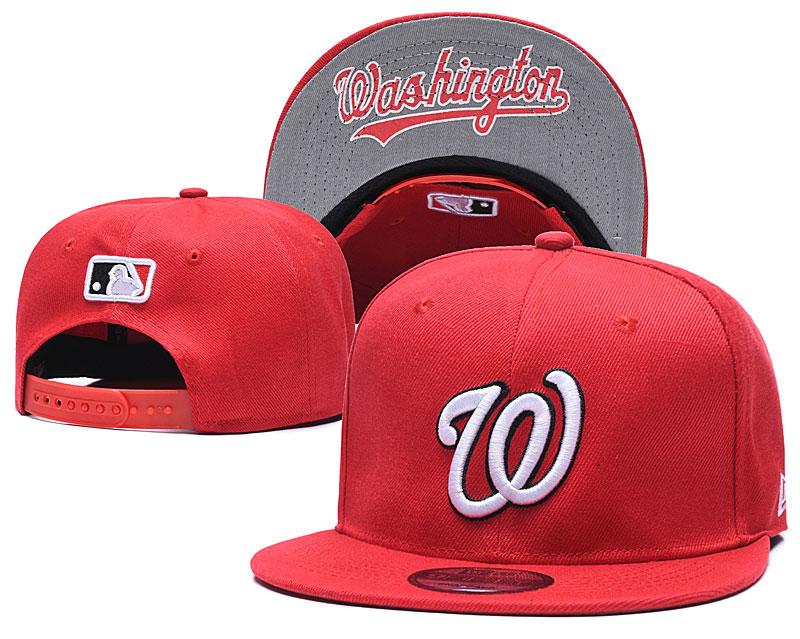 Nationals Team Logo Red Adjustable Hat GS