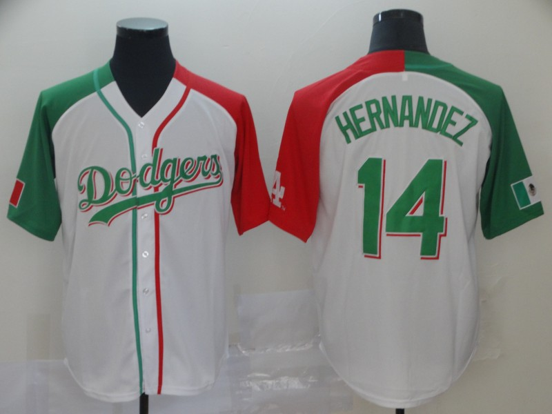 Dodgers 14 Enrique Hernandez White Mexican Heritage Culture Night Jersey Mexico