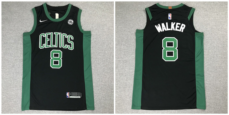 Celtics 8 Kemba Walker Black Nike Authentic Jersey