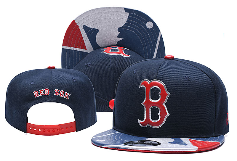 Red Sox Team Logo Navy Adjustable Hat YD