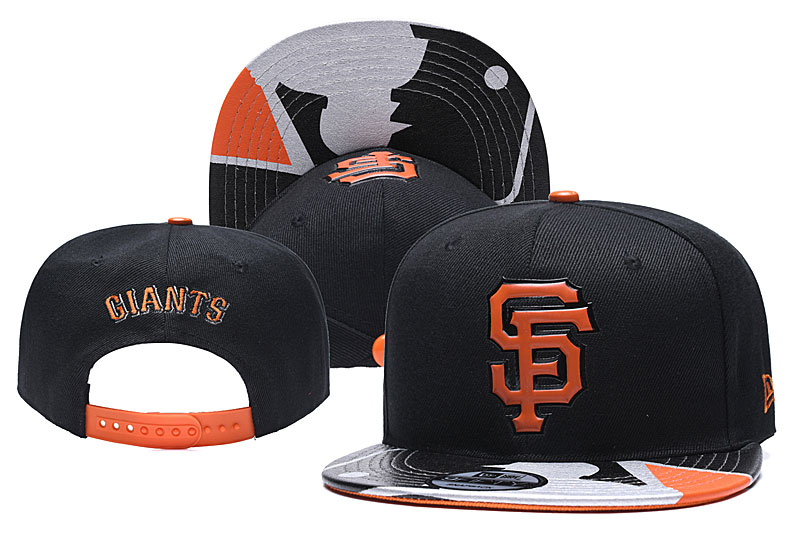 San Francisco Giants Team Logo Black Adjustable Hat YD