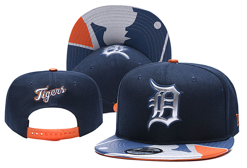 Tigers Team Logo Navy Adjustable Hat YD