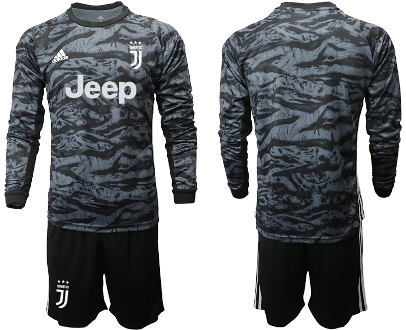 2019-20 Juventus Black Long Sleeve Goalkeeper Soccer Jersey