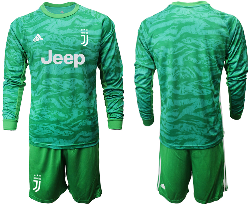 2019-20 Juventus Green Long Sleeve Goalkeeper Soccer Jersey