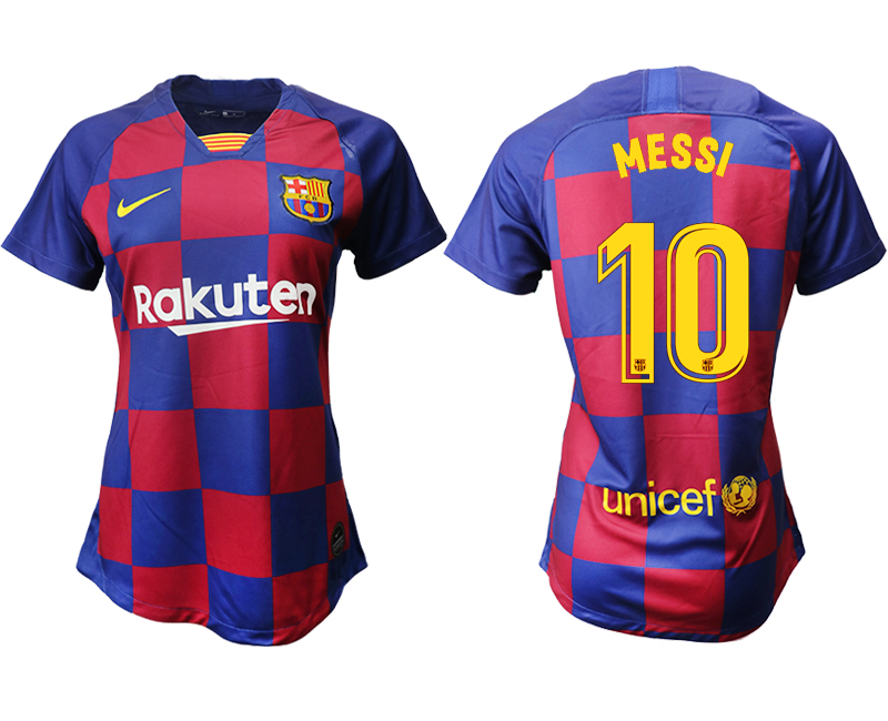 2019-20 Barcelona 10 MESSI Home Women Soccer Jersey