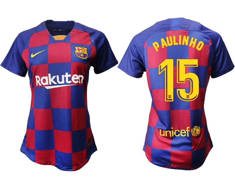 2019-20 Barcelona 15 P AULINHO Home Women Soccer Jersey