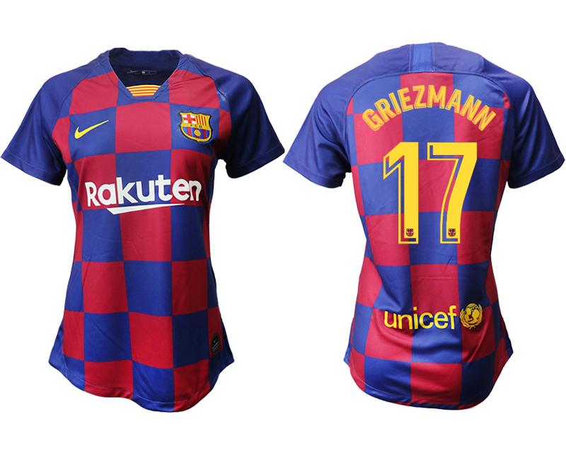 2019-20 Barcelona 17 GRIEZMANN Home Women Soccer Jersey