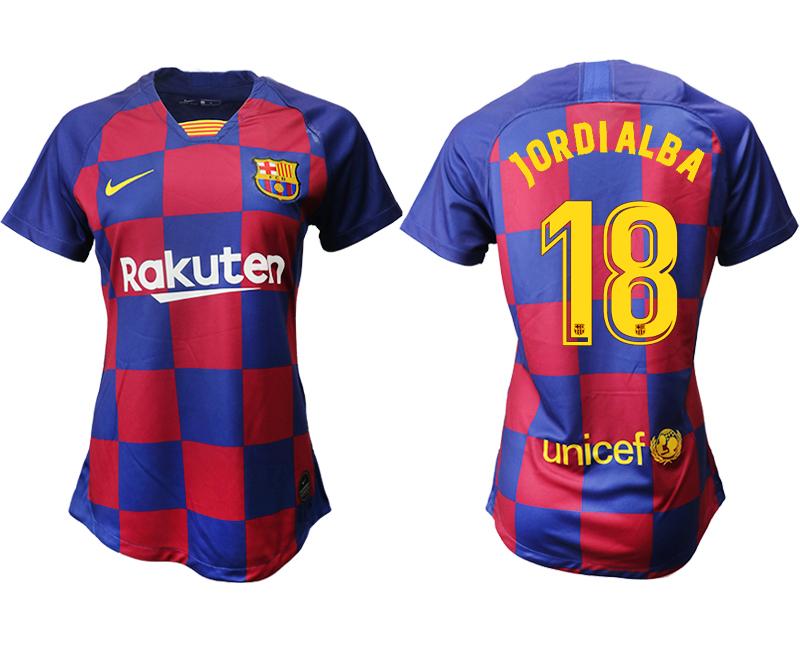 2019-20 Barcelona 18 JORDIALBA Home Women Soccer Jersey