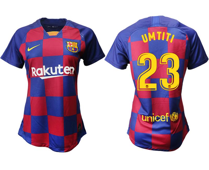 2019-20 Barcelona 23 UMTITI Home Women Soccer Jersey