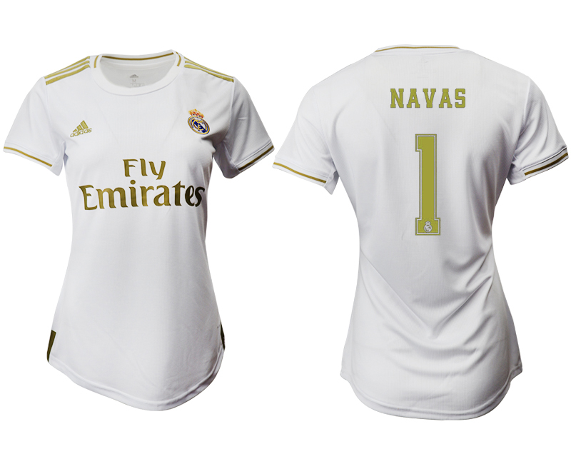 2019-20 Real Madrid 1 NAVAS Home Women Soccer Jersey