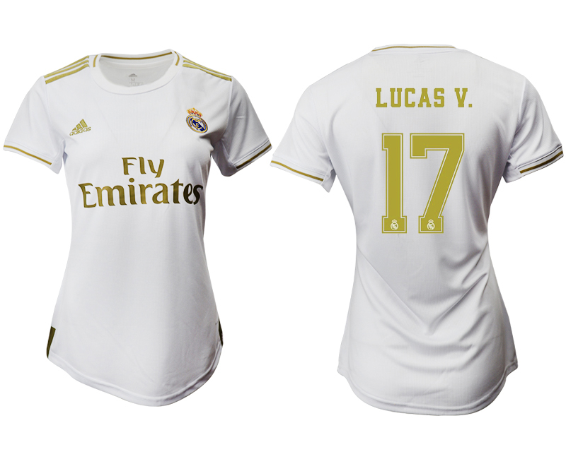 2019-20 Real Madrid 17 LUCAS V. Home Women Soccer Jersey