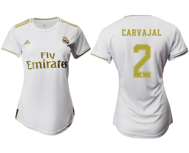2019-20 Real Madrid 2 CARVAJAL Home Women Soccer Jersey