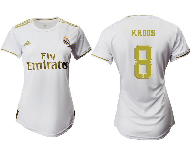 2019-20 Real Madrid 8 KROOS Home Women Soccer Jersey