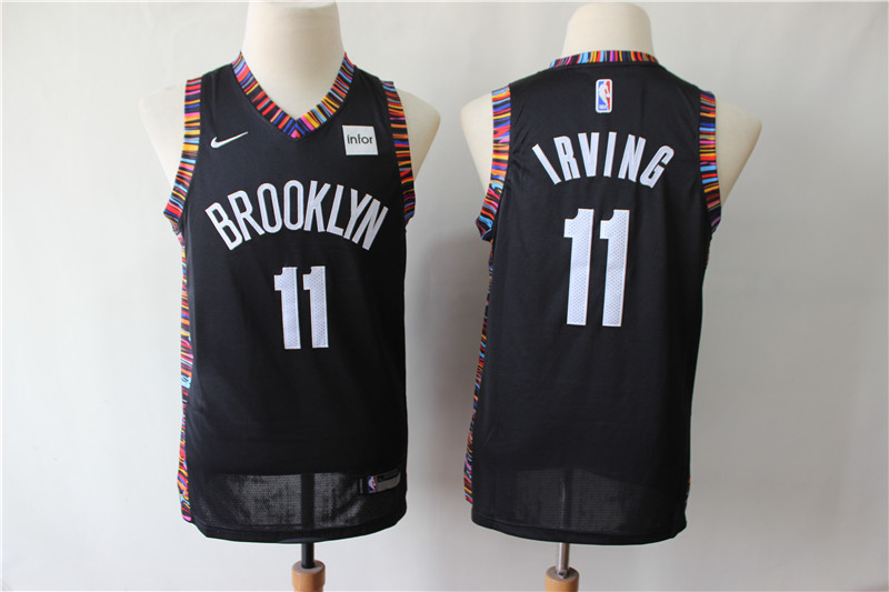 Nets 11 Kyrie Irving Black Youth City Edition Nike Swingman Jersey