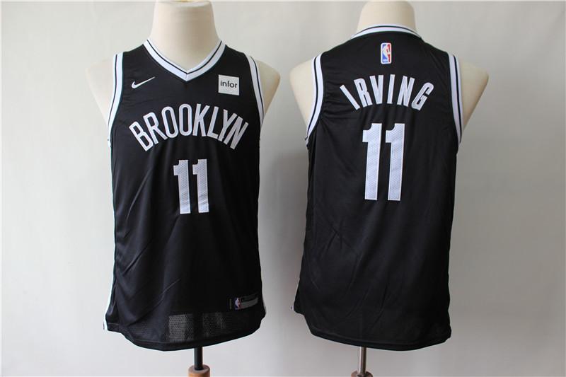 Nets 11 Kyrie Irving Black Youth Nike Swingman Jersey
