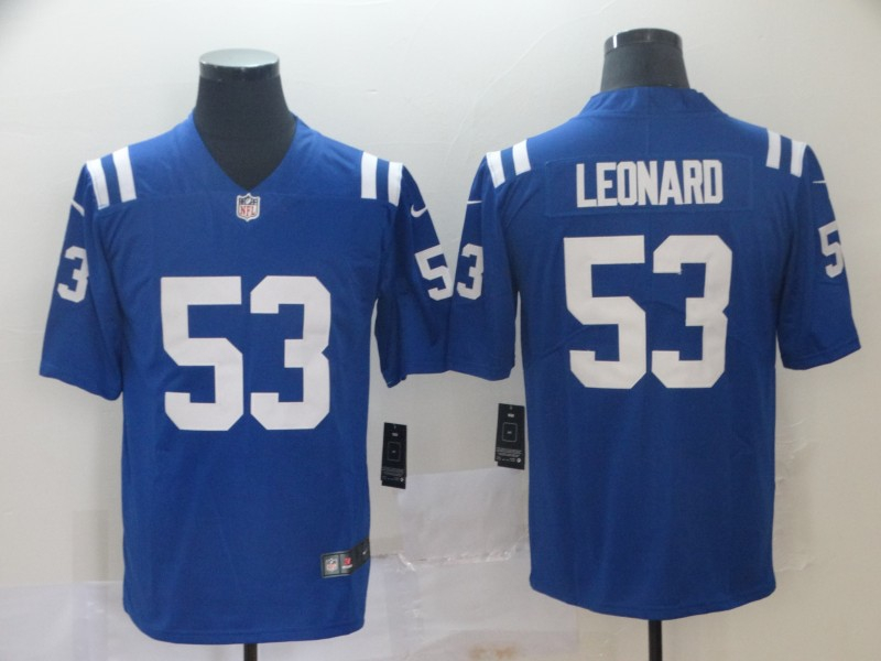 Nike Colts 53 Darius Leonard Royal Vapor Untouchable Limited Jersey