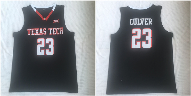 Texas Tech Red Raiders 23 Jarrett Culver Black College Basketball Jersey