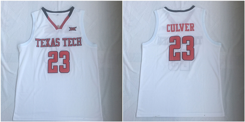 Texas Tech Red Raiders 23 Jarrett Culver White College Basketball Jersey