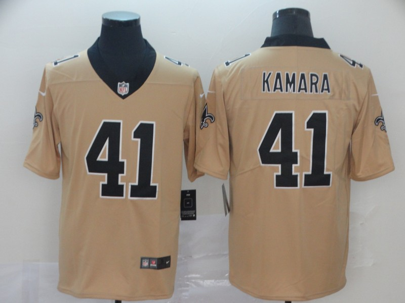 Nike Saints 41 Alvin Kamara Cream Inverted Legend Limited Jersey