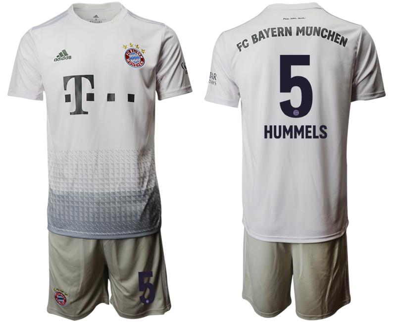 2019-20 Bayern Munich 5 HUMMELS Away Soccer Jersey