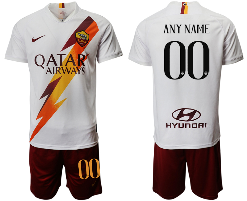 2019-20 Roma Customized Away Soccer Jersey