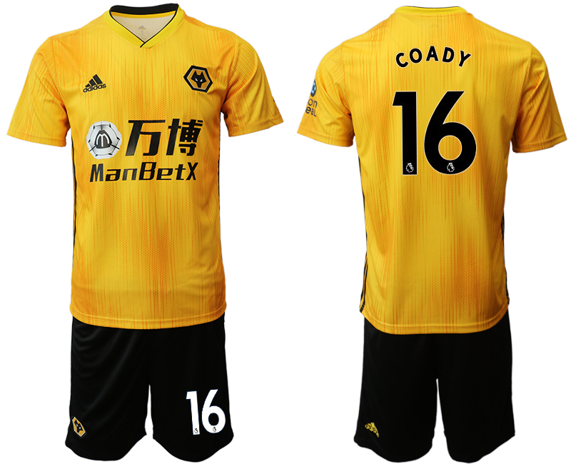 2019-20 Wolverhampton Wanderers 16 COADY Home Soccer Jersey